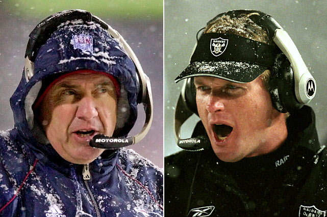 """Oakland coach Jon Gruden was understandably upset about Coleman's controversial decision, reportedly telling his players in the locker room after the loss that the league """"is never going to allow you guys to win here."""" He never even got another chance, leaving Oakland for Tampa Bay after the season. Belichick and the Patriots went on to defeat the Steelers in the AFC Championship and take down the Rams in the Super Bowl for the franchise's first title."""