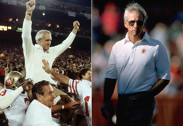 Walsh retired after the Super Bowl XXIII win, ending his tenure as San Francisco's head coach with three titles and a 102-63-1 overall record. Defensive coordinator George Seifert was handpicked by Walsh to take over the head coaching job.