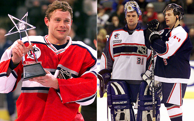 Pavel Bure, Curtis Joseph and Mark Recchi.