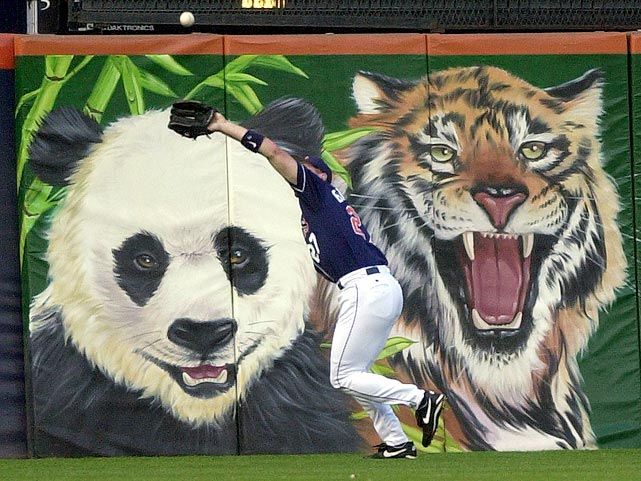 At the old Qualcomm Stadium this panda and lion always had a front-row seat. Unfortunately, neither made the move to the new PETCO Park in 2004. How ironic.