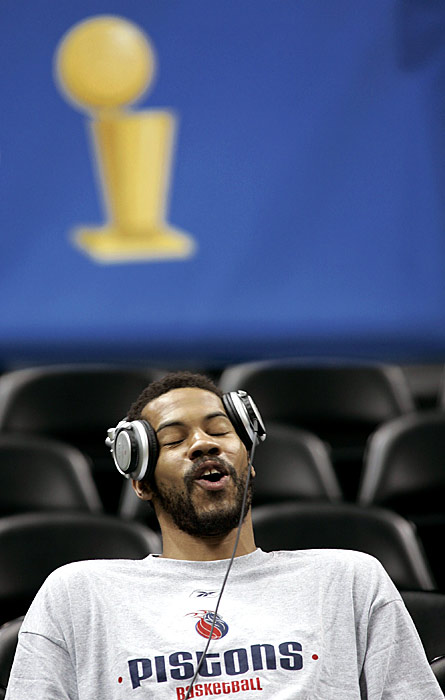Wallace sang to himself before the Pistons' Game 7 matchup against the Spurs in the 2005 Finals.