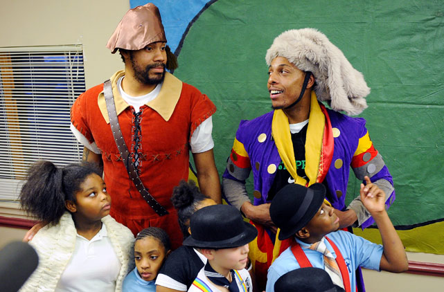 Before retiring at the end of the 2009-10 season, Wallace and Celtics teammate Paul Pierce put on a play with students in Roxbury, Mass. Word has it that Wallace is itching to return to the NBA, so we may get to see more way-off-Broadway productions from 'Sheed & Co.