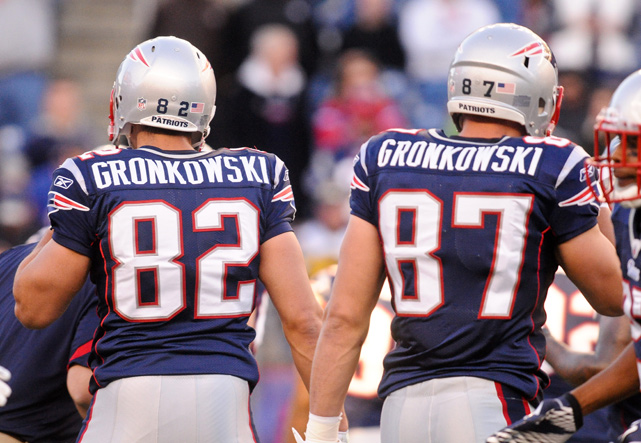 New Englanders got a double dose of Gronkwoski in 2011 as Dan, Rob's older brother, was signed to the squad. Dan played played two games with the Patriots in September, was cut and the re-signed in early October before being cut again in early November.