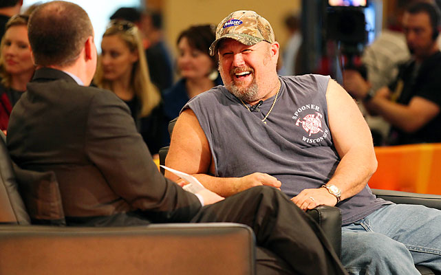 Larry the Cable Guy does an interview with NFL Network's Rich Eisen.