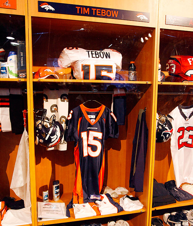 It wouldn't be an NFL Experience without Tim Tebow's locker.