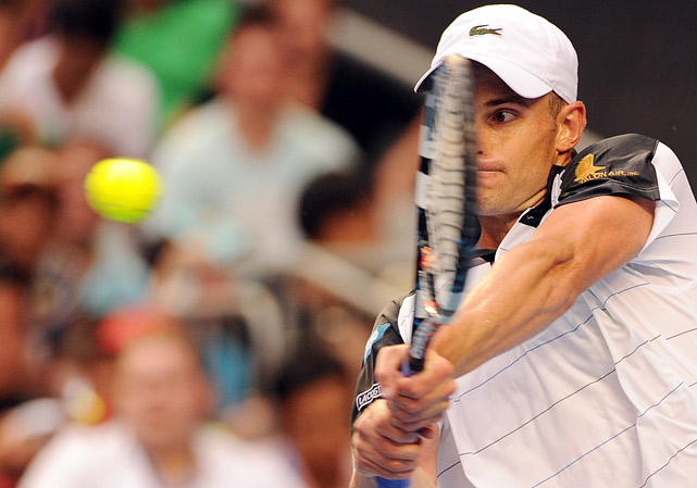 Roddick retired from his second-round match against Lleyton Hewitt because of a hamstring injury.
