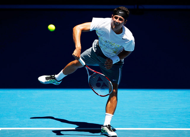 The 19-year-old Australian was one of the big stories of Week 1, rallying from two sets down to beat No. 22 Fernando Verdasco in the first round and winning a five-setter against No. 13 Alexandr Dolgopolov in the third round. Ultimately, Tomic lost to Roger Federer in straight sets in the fourth round.