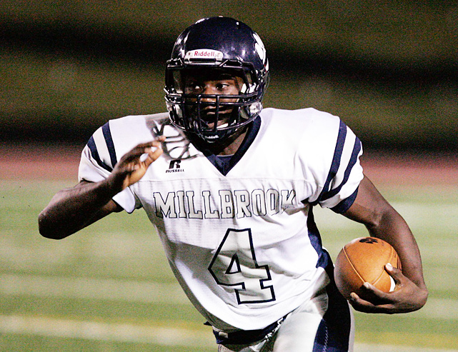 High School:  Millbrook (N.C.)  Height:  5-11  Weight:  195 The second blue-chip running back to commit to Georgia in the past two years (Isaiah Crowell committed in the class of 2011), Marshall was unstoppable during his career year at Millbrook. He rushed for 1,891 yards and 25 touchdowns as a senior, and was even more impressive as a sprinter, running the 100-yard dash in 10.3 seconds. Clemson, Notre Dame, Florida, South Carolina and UNC were among the other schools in contention.