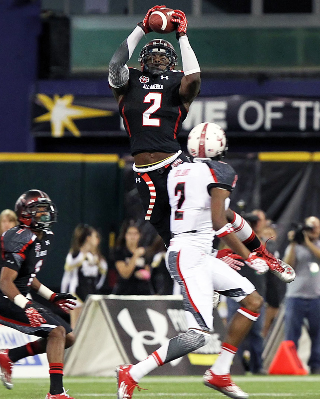 High School:  Dutchtown (La.)  Height:  6-0  Weight:  210 The nation's premier defensive back -- who committed to Alabama over in-state LSU at the Under Armour All-America Game  despite his mother's wishes  -- was a phenom at Dutchtown. He hauled in four interceptions and two pick-sixes for the 10-1 Griffins.