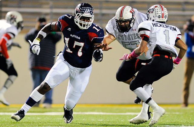 High School:  Denton Ryan (Texas)  Height:  6-3  Weight:  285 A Florida State legacy (his father, Mario Sr., was a Seminole cornerback), Edwards committed to Jimbo Fisher and staff before the onset of his senior year. He then proceeded to dominate.   He bulldozed his way to 72 tackles, 32 for loss and 11 sacks in leading the Raiders to a 12-1 record and the third round of the Texas 4A Division I playoffs.