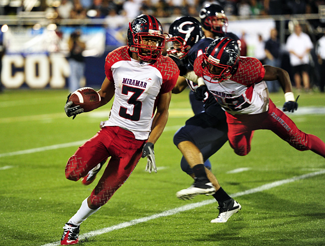 "High School:  Miramar (Fla.)  Height:  5-11  Weight:  175 A lockdown corner at Miramar, Howard carried the Patriots to a Florida Class 8A championship berth as a senior. It's no surprise how. He hauled in 10 interceptions, fronting a ""Dark Side"" defensive unit that notched three shutouts in 2011. He chose Miami over Florida and Florida State on National Signing Day."