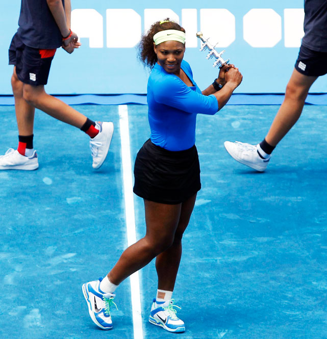 def. Victoria Azarenka 6-1, 6-3 WTA Premier, Blue Clay, $5,189,603 Madrid, Spain