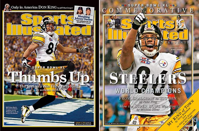 Ward announced his retirement three weeks after the 36-year-old was released by the Steelers in a salary cap maneuver.  Ward holds every significant franchise receiving record, including receptions, receiving yards and touchdowns. His 1,000 career catches rank eighth all time and he is one of two players with at least 1,000 receptions and two Super Bowl rings.  Ward made four straight Pro Bowls from 2001-2004 and seemed to get better as he aged. He was named the Most Valuable Player of the 2006 Super Bowl after catching five passes for 123 yards and a touchdown in Pittsburgh's 21-10 victory over Seattle, the franchise's first championship in 26 years.