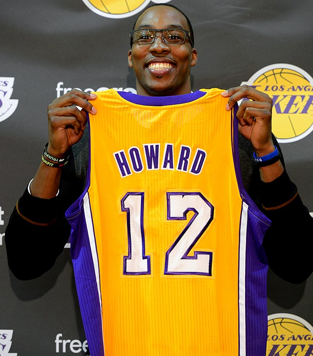 For the second time in franchise history, the Orlando Magic lost an All-Star center, this time with Dwight Howard being traded to the Los Angeles Lakers in a four-team deal involving 12 players and five draft picks. (Shaquille O'Neal left Orlando in 1996 to sign with L.A.) Howard averaged 20.6 points and 14.5 rebounds in 54 regular-season games for Orlando last season. In eight seasons with the Magic, he averaged 18.4 points and 13.0 rebounds.