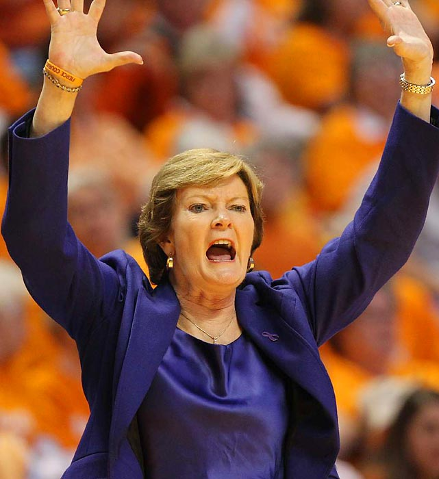 Less than a year after her diagnosis of early onset dementia-Alzheimer's type, Pat Summitt, the winningest coach in college basketball history, announced on April 18 that she was stepping down. Her Hall of Fame career ends with eight national titles and a 1,098-208 record. During her time, Tennessee never failed to reach the NCAA tournament, never received a seed lower than No. 5 and reached 18 Final Fours. She also led the 1984 Olympic team to a gold medal.