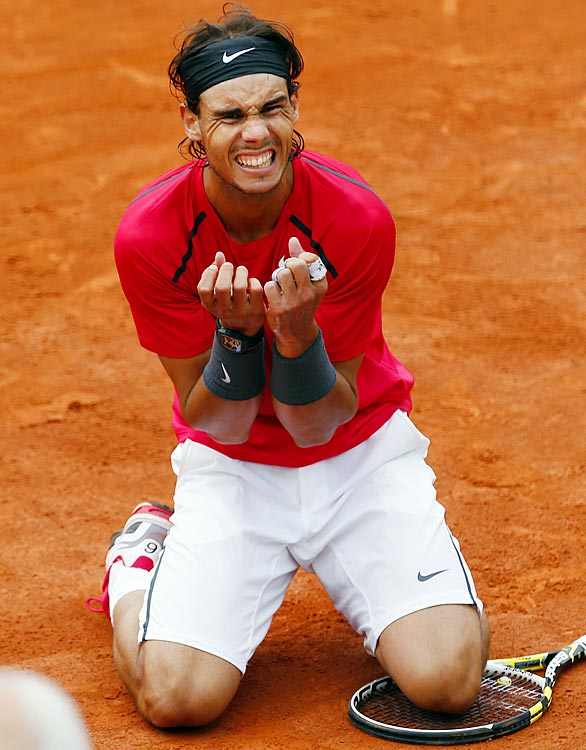 Rafael Nadal won a record-seventh French Open title with a  6-4, 6-3, 2-6, 7-5 showing against Novak Djokovic, who was seeking to win a fourth consecutive major, a unique but plausibly authentic Grand Slam. The match was suspended for a day but ended with Nadal securing his 11th major title, moving him into a third-place tie with Bjorn Borg and Rod Laver on the all-time list.
