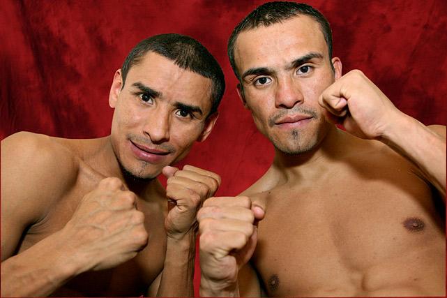 Juan Manuel Marquez  (left): IBF Featherweight, 2/03-5/05 WBA Featherweight, 11/03-3/05 WBO Featherweight, 12/06-4/07 WBC Super Featherweight, 3/07-3/08 WBO Lightweight, 2/09-1/12 WBA Lightweight, 2/09-present   Rafael Marquez  (right): IBF Bantamweight, 2/03-3/07 WBC Super Bantamweight, 3/07-8/07
