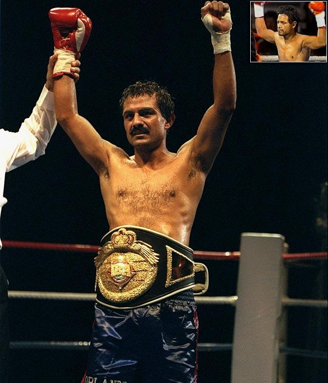Orlando Canizales  (main): IBF Bantamweight, 7/88-1/95   Gaby Canizales  (inset): WBA Bantamweight, 3/86-6/86 WBO Bantamweight, 3/91-6/91