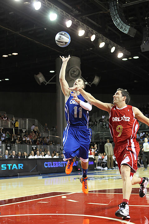 "The style and grace of Vinny Guadagnino (""Jersey Shore"") in the celebrity game was simply astounding."