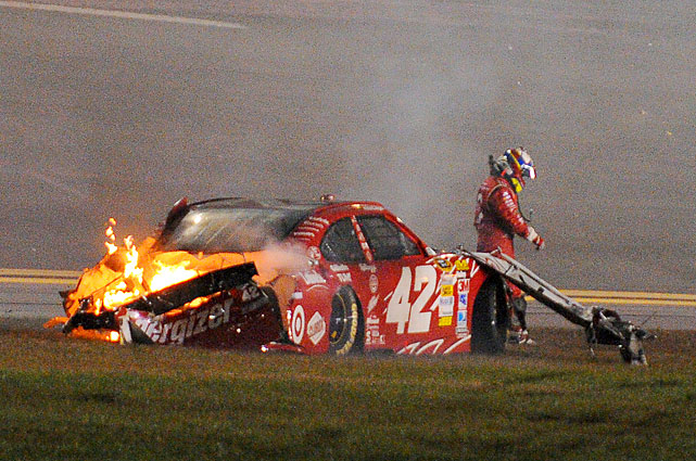 The 2000 Indy 500 winner Montoya's car was damaged beyond repair.