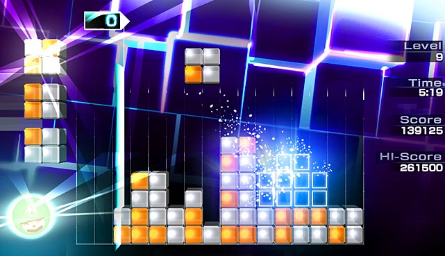 The premise of Lumines is simple: group same-colored blocks in squares to make them disappear and to score points. It's simple to learn but challenging to master. The game's visual aesthetics, tremendous soundtrack and smart navigation really work in harmony. The game smartly uses online leaderboards to track your progress against other players in a variety of clever and addictive game modes. As you progress in Lumines you'll build up experience points and unlock new functional avatars that help you score better. Lumines is another great game from Ubisoft that you'll want to add to your library.   Score: 9 out of 10