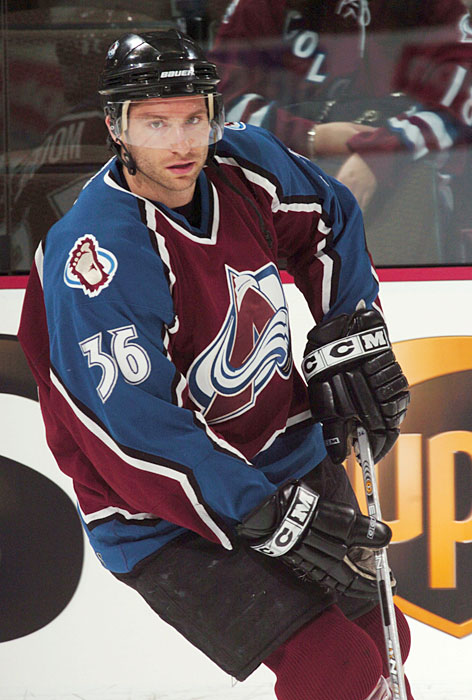 The former Colorado Avalanche player had his NHL career prematurely ended in 2004 by a Todd Bertuzzi sucker punch.