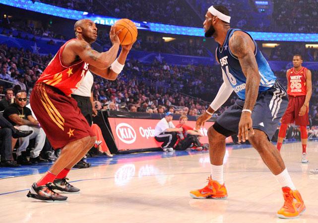 Kobe and LeBron go toe-to-toe.