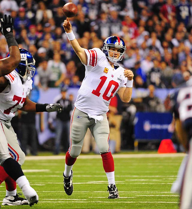 Manning was voted game MVP after completing 30 of 40 passes for 296 yards and one touchdown.