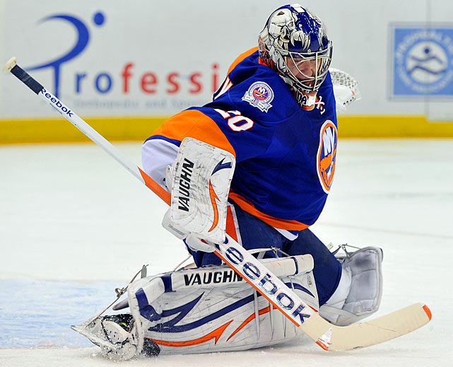 The veteran netminder came to Long Island under less than ideal circumstances (claimed on waivers after agreeing to a deal with Detroit), but he's warmed to the young Islanders, is playing well, and has a no-trade clause. Surely coveted by the Blackhawks and perhaps the Red Wings, Nabokov, an impending UFA, is an easy cap fit at $570,000.   CLICK HERE   for Stu Hackel's team by team roundup of trade deadline needs and rumors.