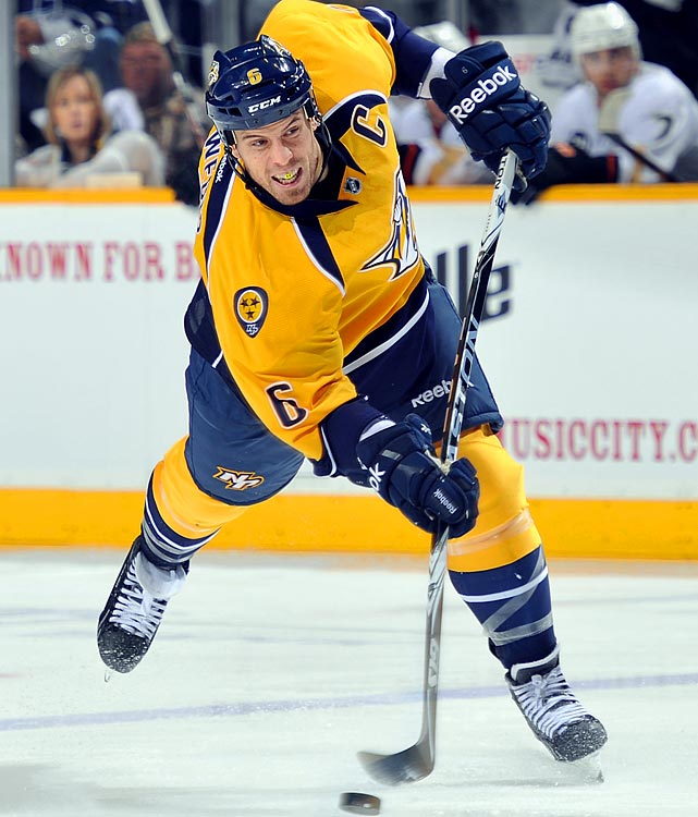 A corrnerstone blueliner with a booming shot, Weber could fetch Nashville the scoring it needs and then some. He'll be a restricted free agent after the season and is earning $7.5 million against the cap, thanks to an arbitration award, the highest in NHL history. The tight-budget Preds must make the most of their resources and it might be wise to deal Weber to a contender (Detroit and Philadelphia have been named as possible destinations) for a variety of more affordable help.     CLICK HERE   for Stu Hackel's team by team roundup of trade deadline needs and rumors.