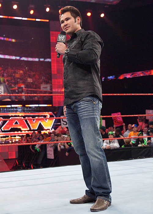 Johnny Damon took over guest hosting duties when WWE traveled to Tampa for a Dec. 2009 episode of Monday Night Raw.