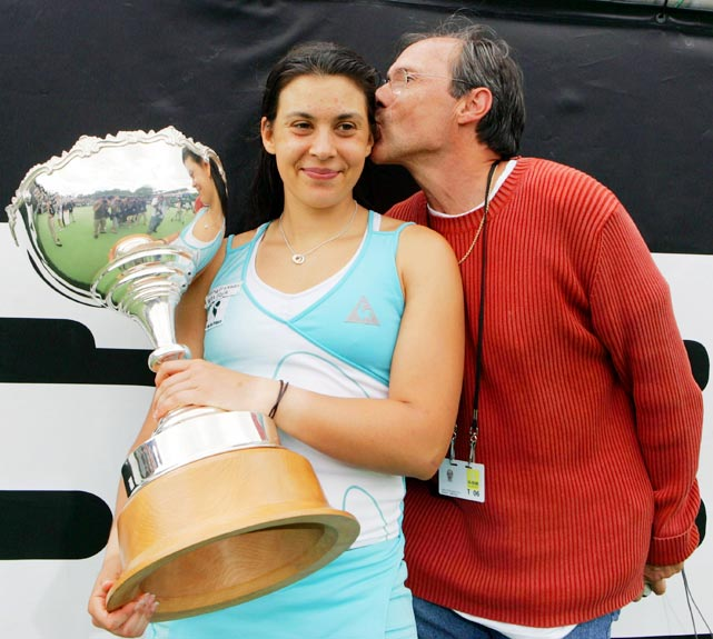 Bartoli left his career as a doctor to coach his daughter, but their professional relationship has been tense at times. At '11 Wimbledon, Bartoli waved wildly to get her father to leave the stands during her match against Flavia Pennetta. Walter's coaching has also created a rift with the French Federation of Tennis, which won't allow players on its Olympic or Fed Cup team to use outside coaches. Bartoli, France's only player in the top 50, hasn't competed in Fed Cup since 2004.