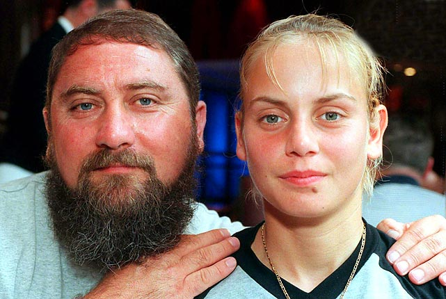 Dokic had numerous incidents while coaching his daughter and was ultimately banned from attending WTA events. He was thrown out of the 2000 U.S. Open for abusive behavior in the players' lounge and smashed a reporter's cell phone to pieces at that year's Wimbledon. In 2001, he accused Australian Open organizers of fixing the draw. Later, Dokic was sentenced to 15 months in jail after threatening to kill the Australian ambassador. Damir  was released after serving just under a year  and reconciled with Jelena after eight years of separation.