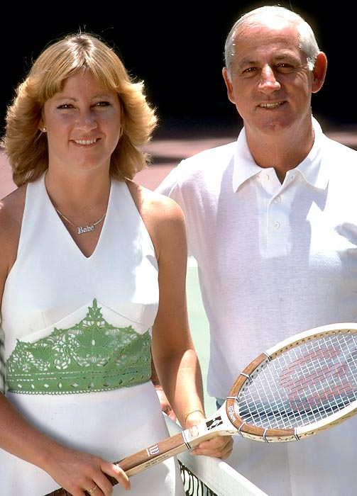 Evert attended Note Dame on a tennis scholarship and later went on to win the men's singles title at the 1947 Canadian Championships. He coached all five of his children, and began giving daughter Chris tennis lessons when she was 5. Chris ascended to No. 1 and won at least won Grand Slam singles title in 13 consecutive years (1974-86).