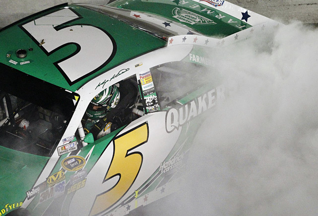 Kasey Kahne posted his first victory since joining Hendrick Motorsports in the offseason as he won his third Coca-Cola 600 and earned his fourth win over all Charlotte Motor Speedway.
