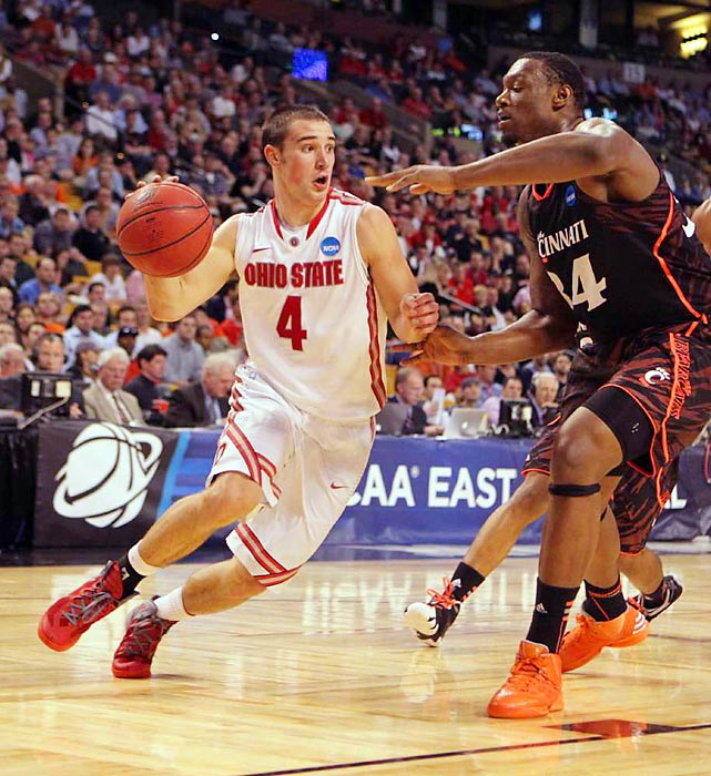 Cincinnati's late charge to top the Buckeyes fell a few baskets short as point guard Aaron Craft helped turn a four-point deficit into a double-digit lead for the Buckeyes. Ohio State beat the Bearcats 81-66 in the East Regional semifinal.