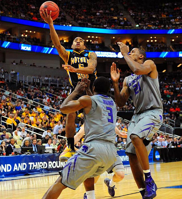 Southern Miss sophomore Neil Watson attempts a layup in the Golden Eagles' first-round loss to Kansas State. Watson led Southern Miss with 16 points.