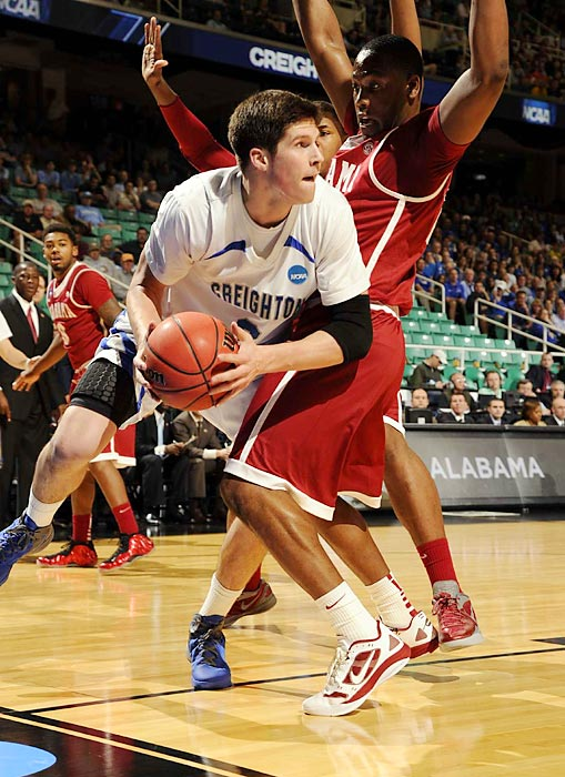 Missouri Valley Conference player of the year Doug McDermott led the way for the Blue Jays in their back and forth win over Alabama, scoring 15 points and grabbing 10 rebounds to put Creighton in the second round.