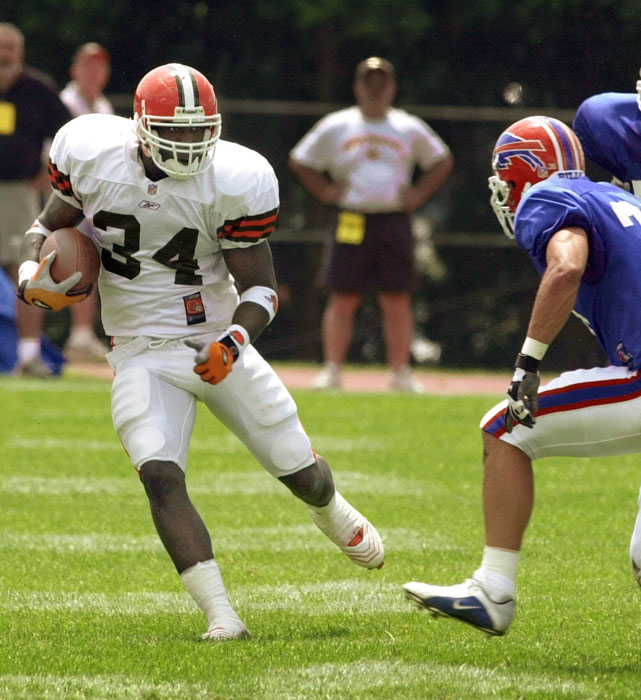 Gay spent once season in the NFL (2001) as the third-string running back with the Browns. It's sad he never got a sponsorship deal with Bengay, the healing cream.