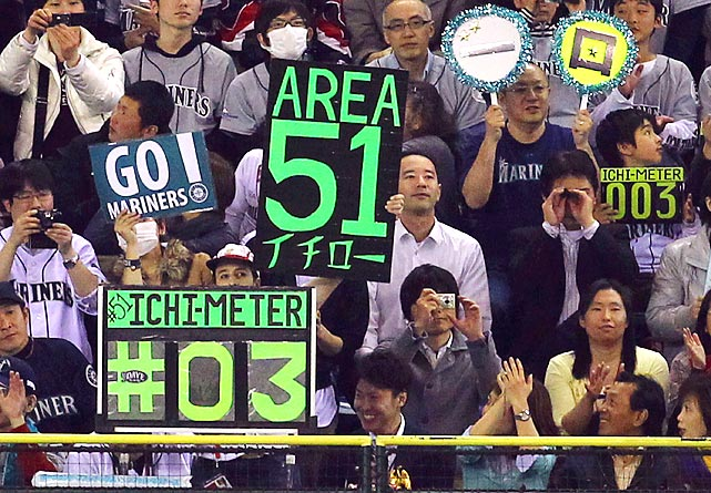 Ichiro's number was seemingly everywhere.