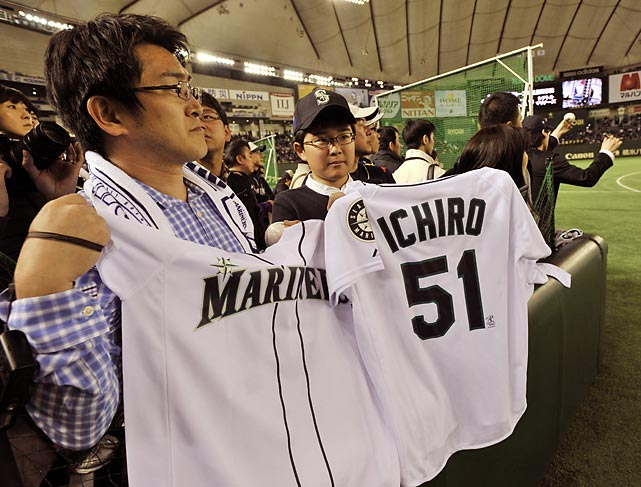The game marked the first time Ichiro Suzuki played a game in Japan in a major league uniform.