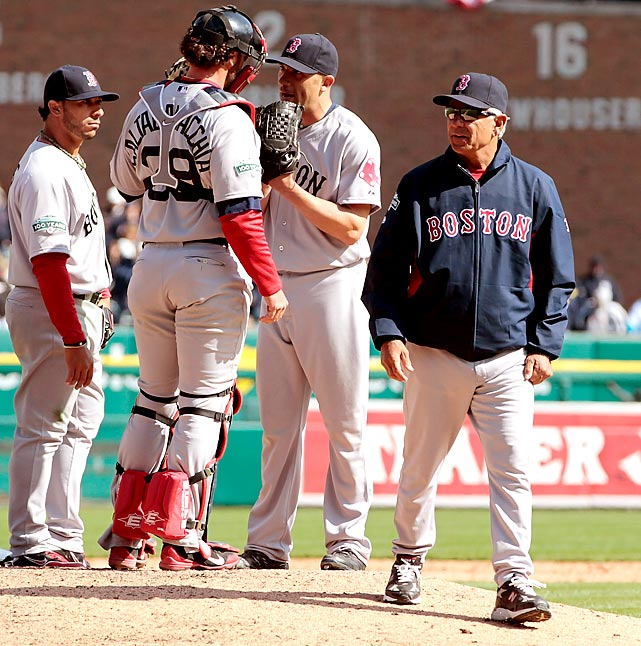 Boston manager Bobby Valentine lost in his return to the major leagues after replacing Terry Francona following the team's 7-20 September slide that cost the Red Sox a playoff spot last year. Boston gave up a bases-loaded triple to Austin Jackson in the bottom of the ninth as the Detroit Tigers won 3-2.