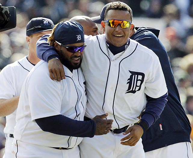 In his first game as a Detroit Tiger, Prince Fielder went 1-for-3 with one RBI and one strikeout. His lone hit was a single in his first at-bat.