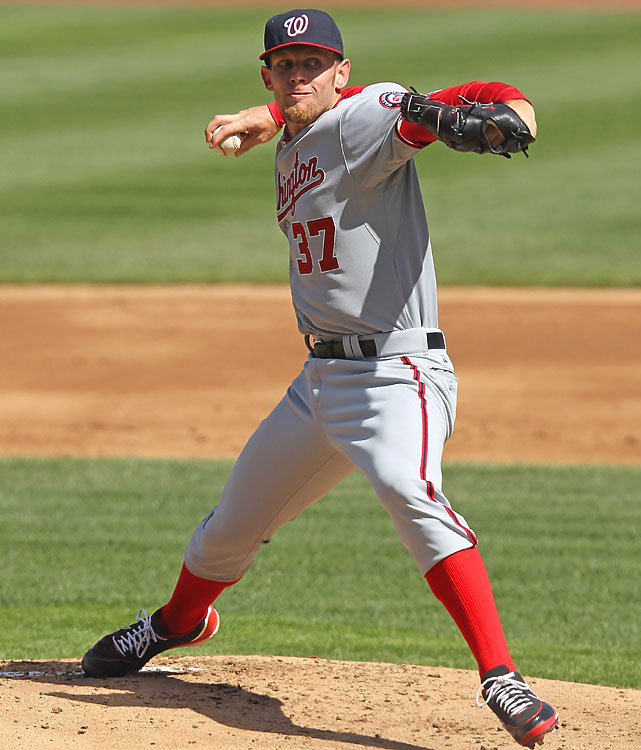 Pitching his first season opener, Stephen Strasburg gave up only one run and five hits over seven innings. The Nationals trailed 1-0 until scoring runs in the eighth and ninth to beat the Cubs 2-1.