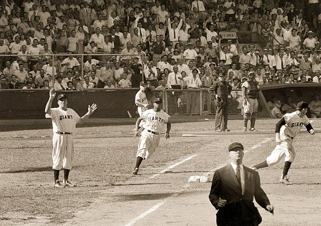 The New York Giants vs. the Cleveland Indians in the 1954 World Series.