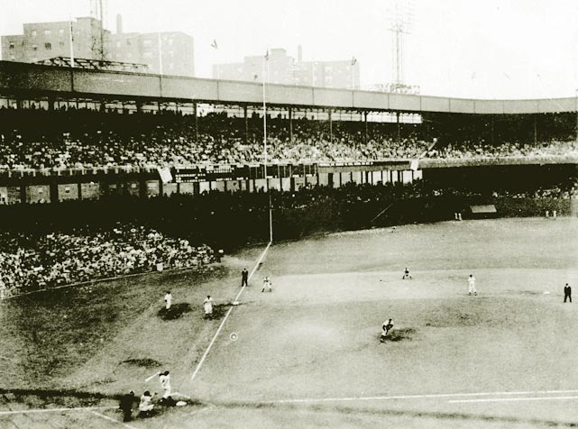 "Bobby Thomson hits his famous ""Shot Heard 'Round the World"" at the Polo Grounds to beat the Brooklyn Dodgers in a playoff game and give the Giants the pennant."