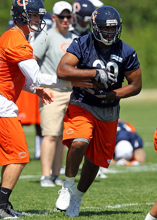 Bush agreed to a four-year contract with the Bears and will join Matt Forte, who got a franchise tag from the Bears, in Chicago's backfield.  Bush played four seasons for the Oakland Raiders, gaining 2,642 yards (4.2 yards per carry) and scoring 21 touchdowns. The powerful 245-pound back had his most productive season in 2011, setting career highs in rushes (256), yards (977), touchdowns (7), receptions (37) and yards receiving (418).  He mostly was a backup to Darren McFadden but had nine starts last season when McFadden was injured.