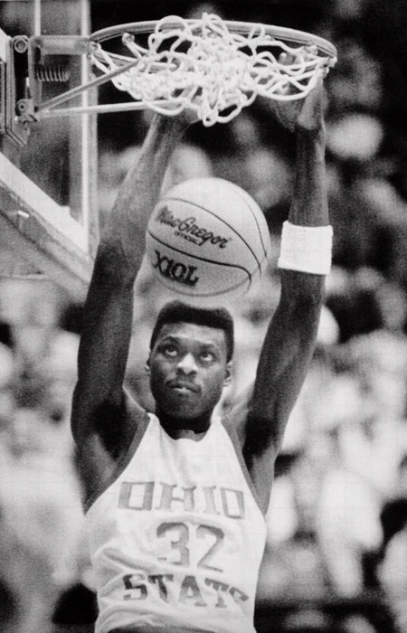 Swingman Dennis Hopson won the 1987 Big Ten Player of the Year Award and left Ohio State as the team's all-time leader in points, a mark that still stands.