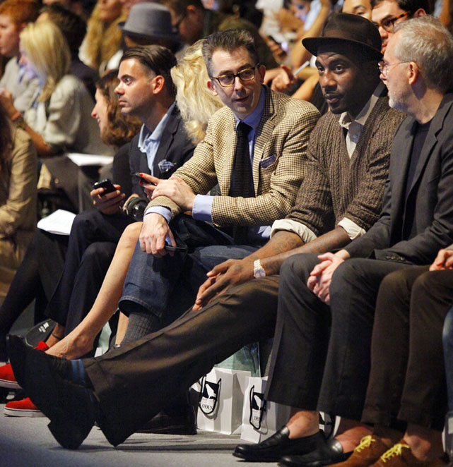 Stoudemire, who came out with a fashion line with designer Rachel Roy, attended a runway show at New York's Fashion Week in September 2011.