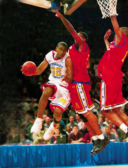 He was picked to play in the 2002 McDonald's All-American Game, roughly two months before becoming an NBA player.